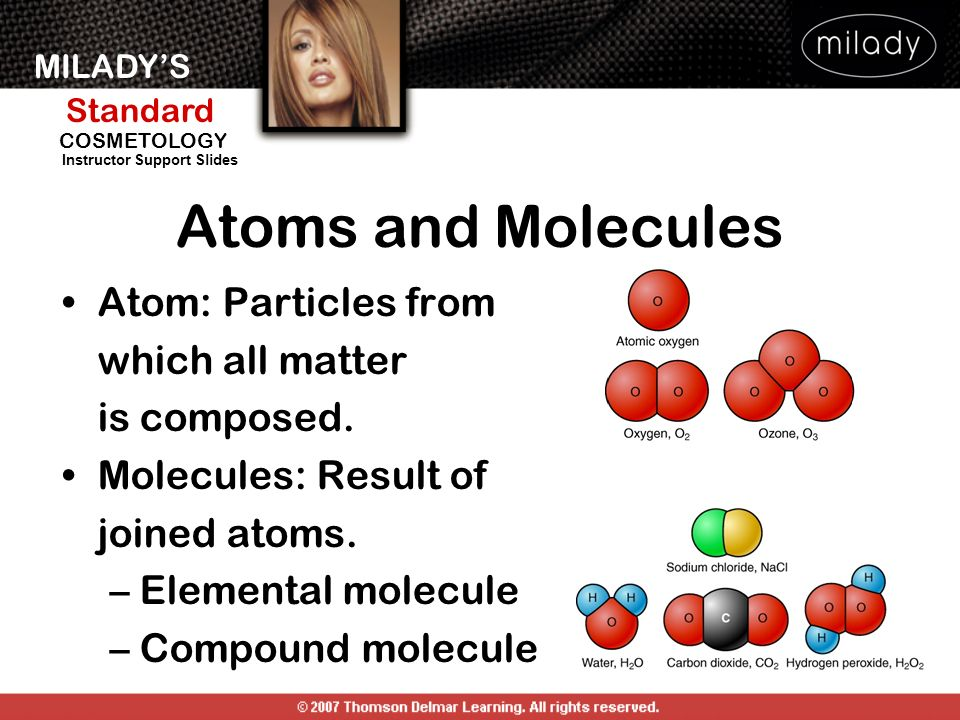 Atoms and Molecules Atom: Particles from which all matter is composed.