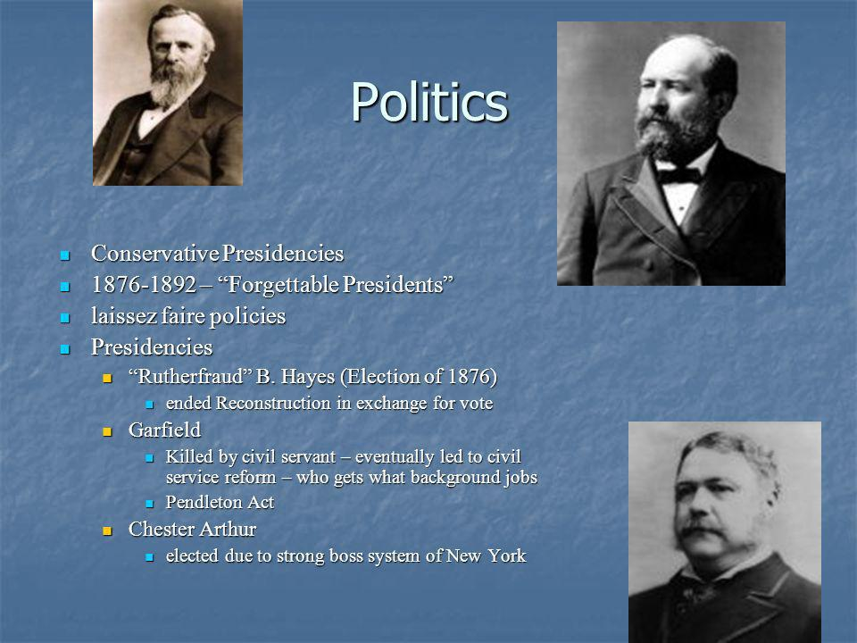 Politics Conservative Presidencies