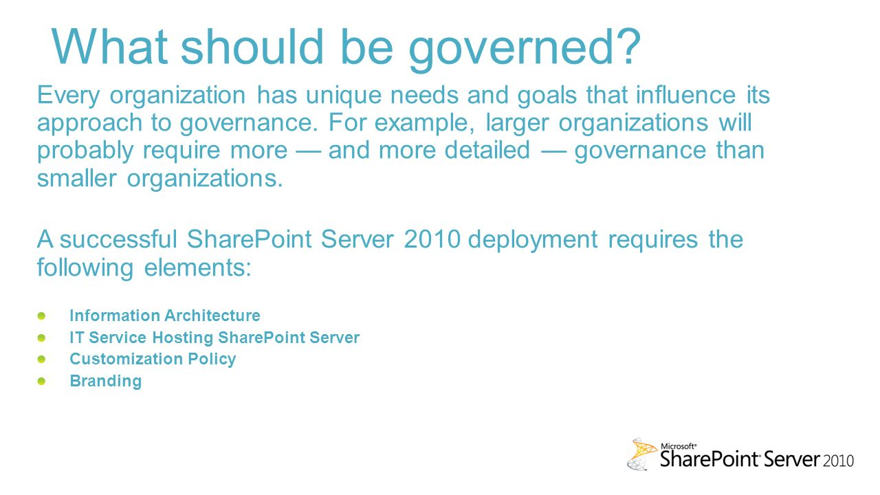 sharepoint governance introduction ppt