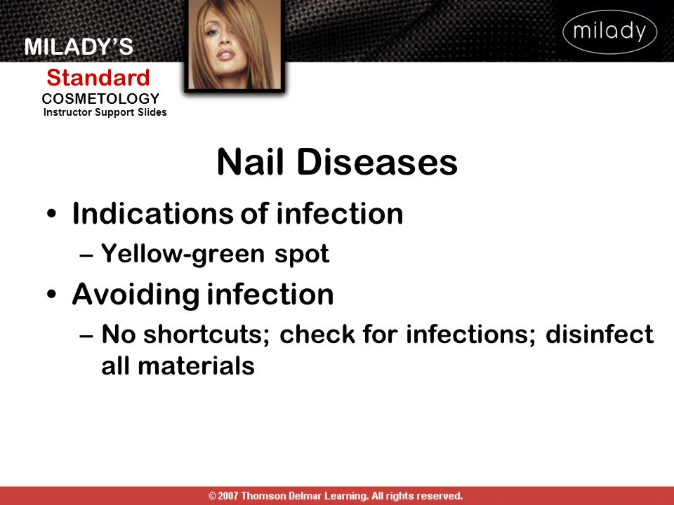 Nail Diseases Indications of infection Avoiding infection