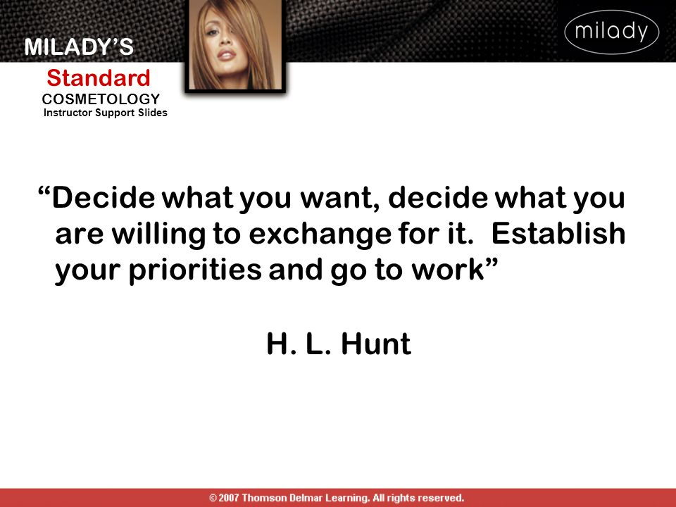 Decide what you want, decide what you are willing to exchange for it