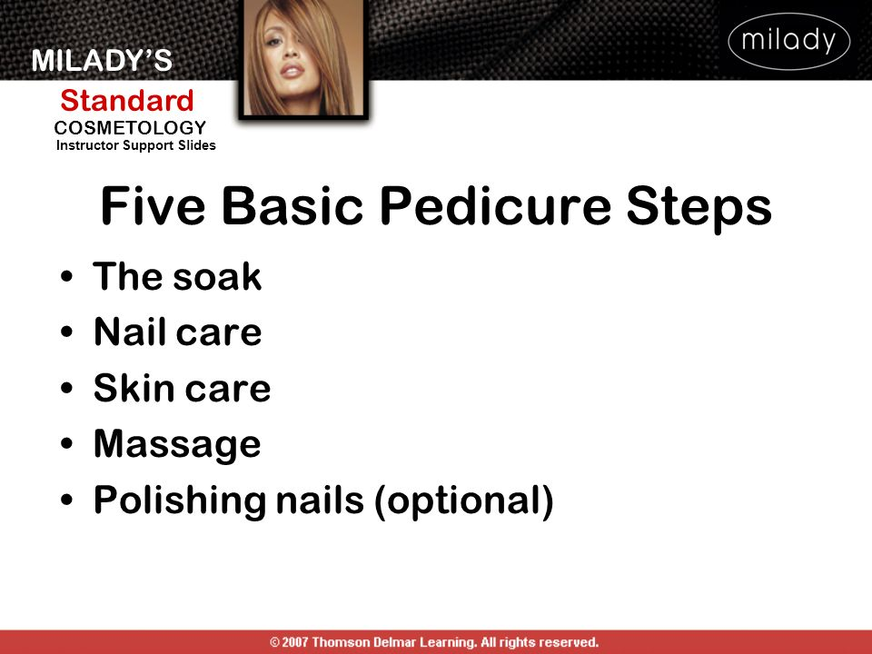Five Basic Pedicure Steps