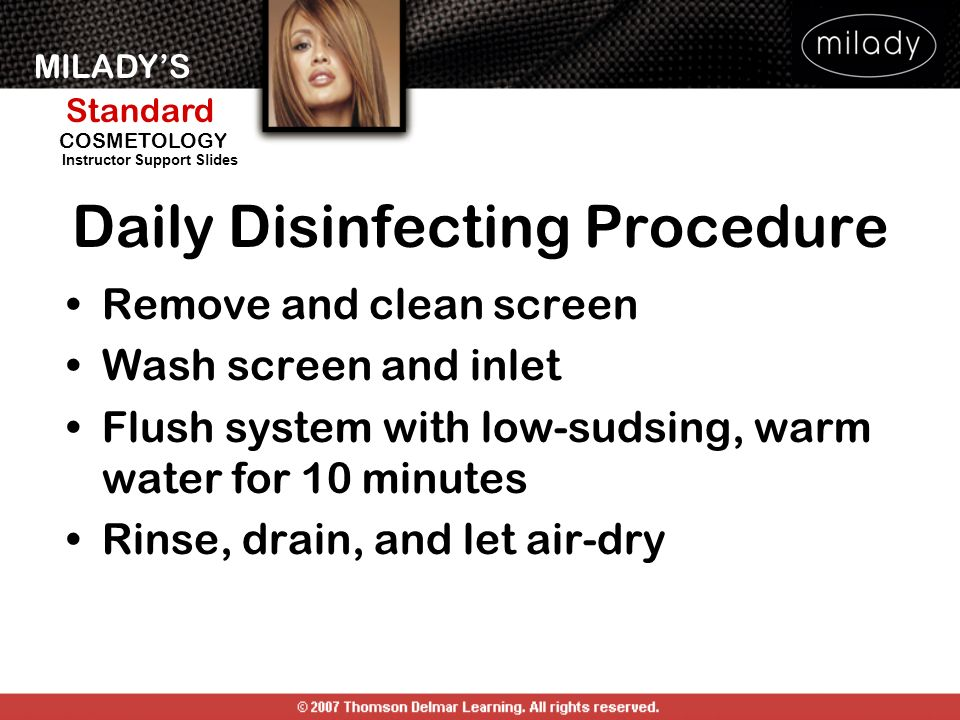 Daily Disinfecting Procedure