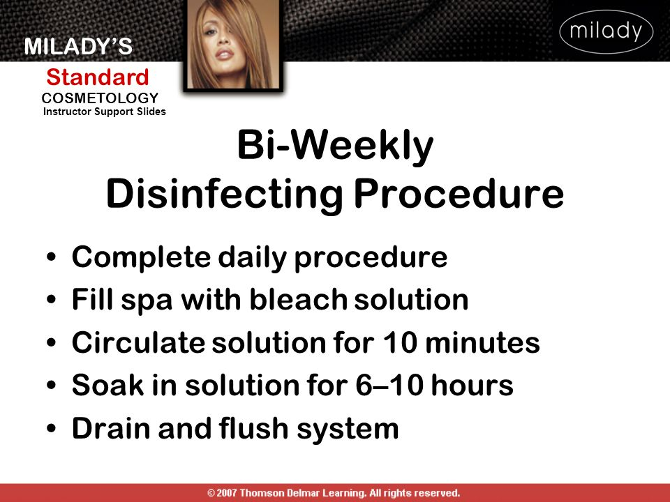 Bi-Weekly Disinfecting Procedure