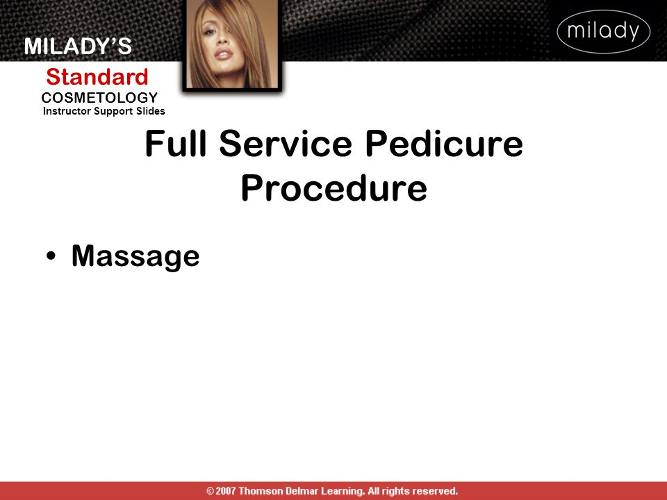 Full Service Pedicure Procedure