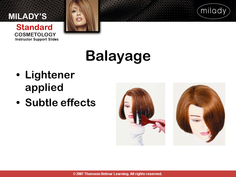 Balayage Lightener applied Subtle effects