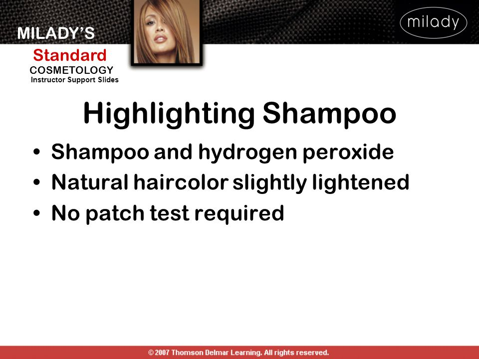 Highlighting Shampoo Shampoo and hydrogen peroxide