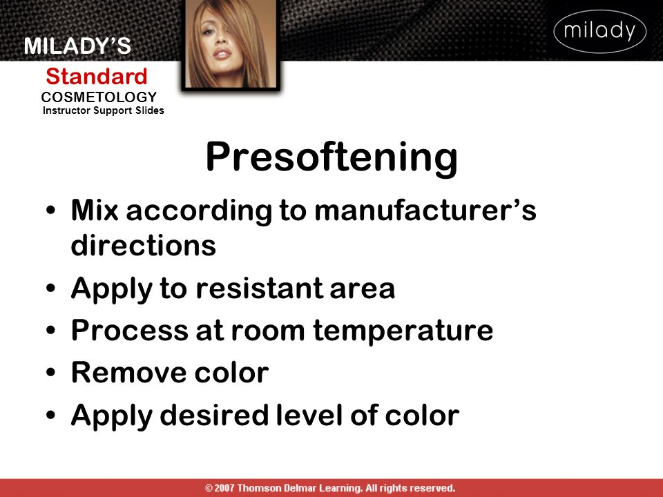 Presoftening Mix according to manufacturer's directions