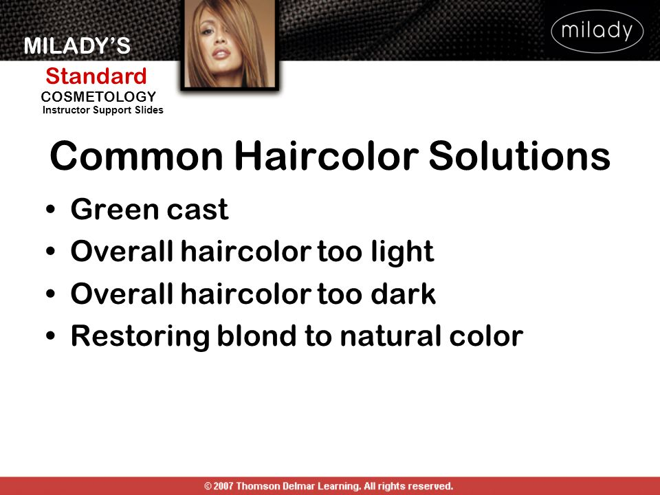Common Haircolor Solutions