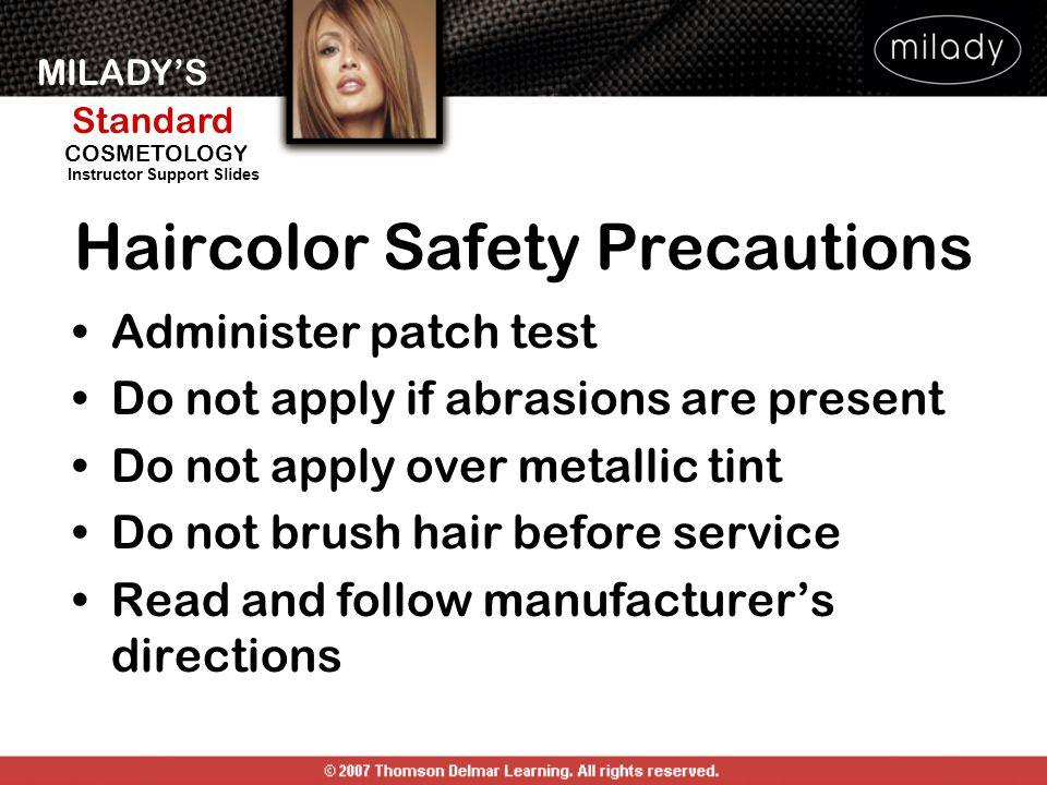 Haircolor Safety Precautions