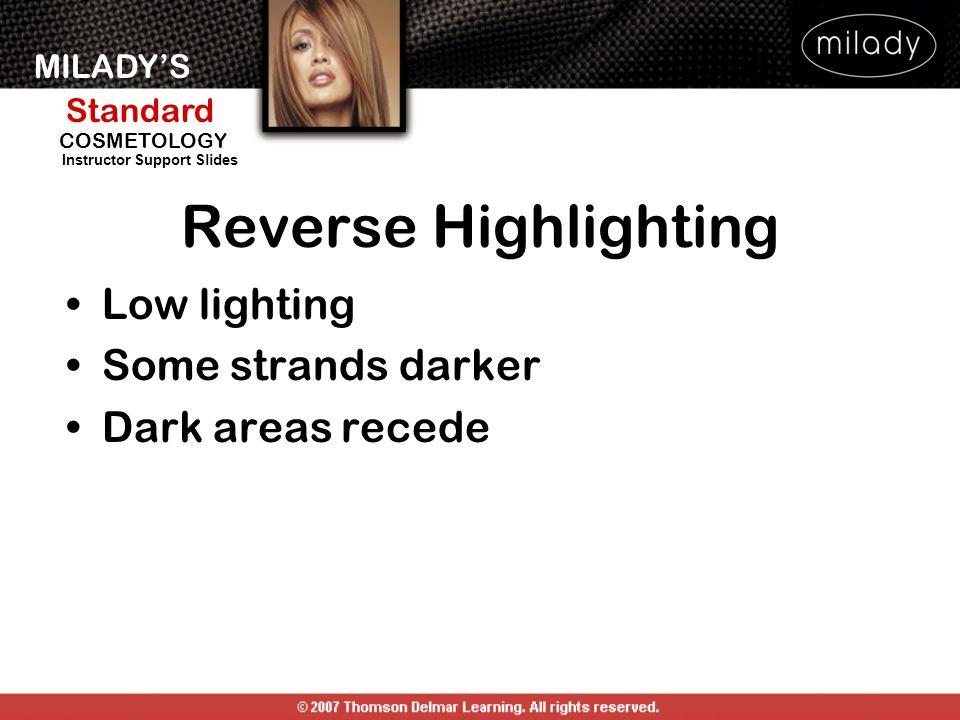 Reverse Highlighting Low lighting Some strands darker