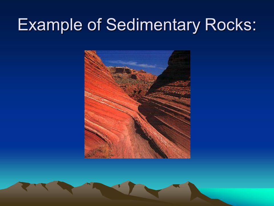 Example of Sedimentary Rocks: