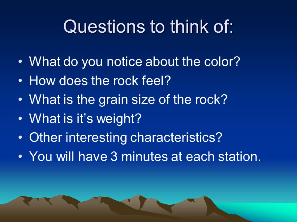 Questions to think of: What do you notice about the color