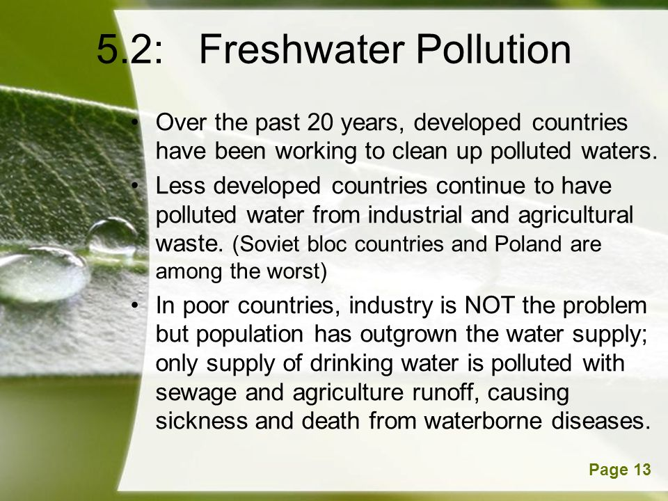 5.2: Freshwater Pollution