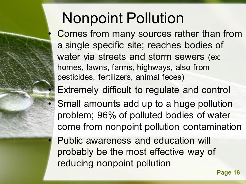 Nonpoint Pollution