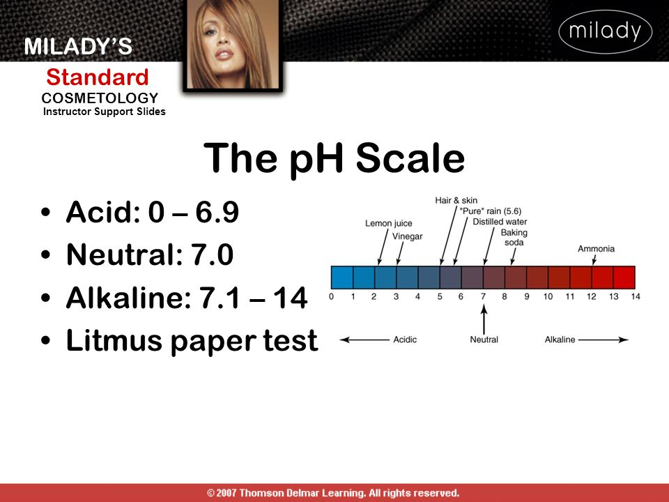 The pH Scale Acid: 0 – 6.9 Neutral: 7.0 Alkaline: 7.1 – 14