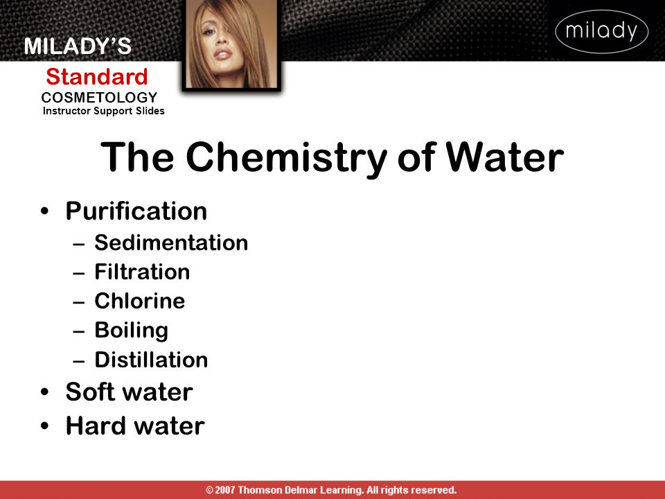The Chemistry of Water Purification Soft water Hard water