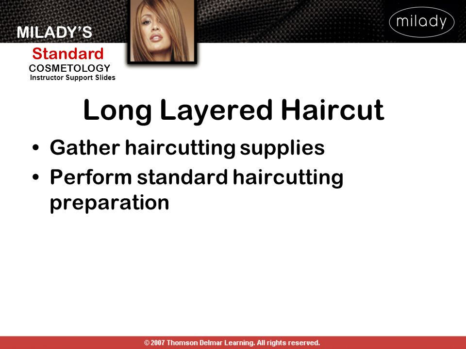 Long Layered Haircut Gather haircutting supplies