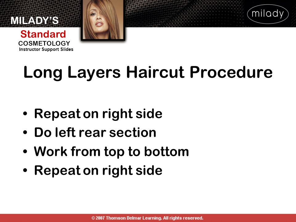 Long Layers Haircut Procedure