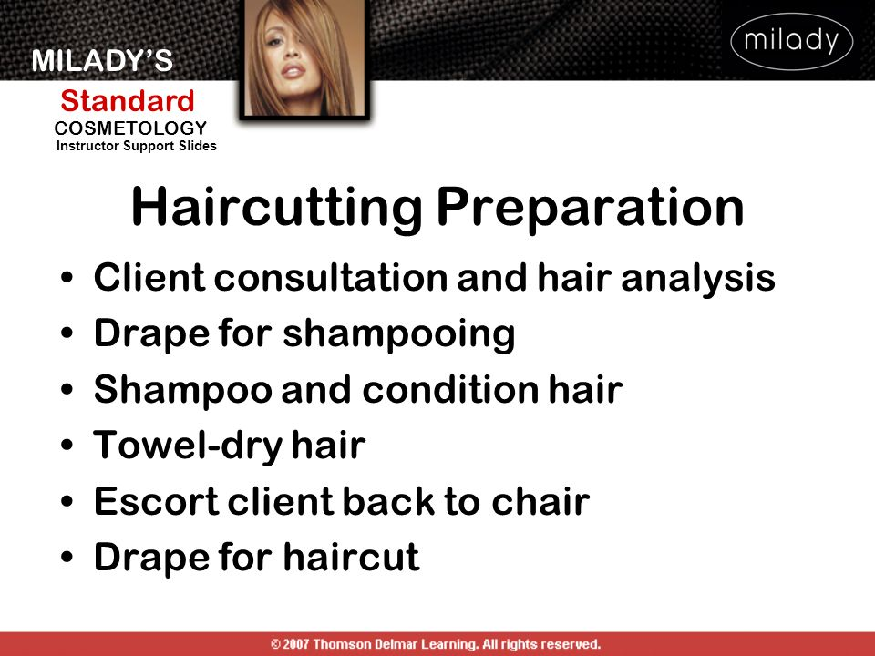 Haircutting Preparation