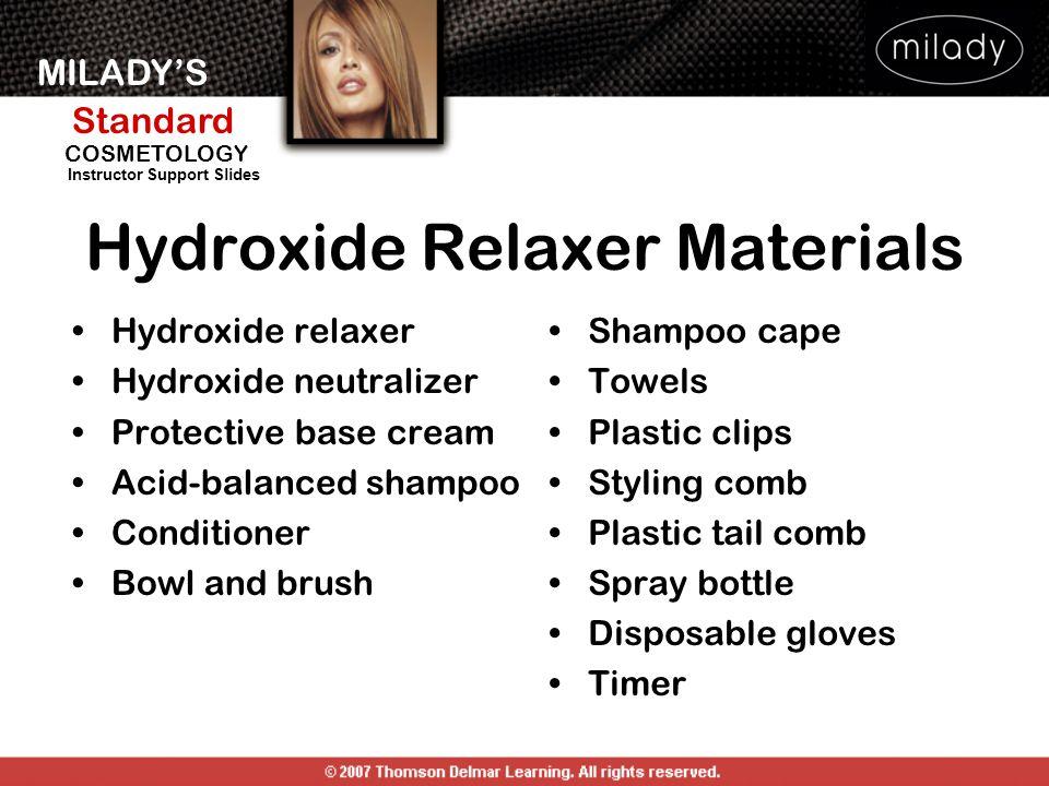 Hydroxide Relaxer Materials