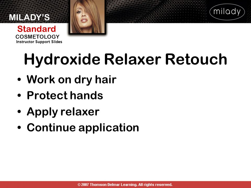 Hydroxide Relaxer Retouch
