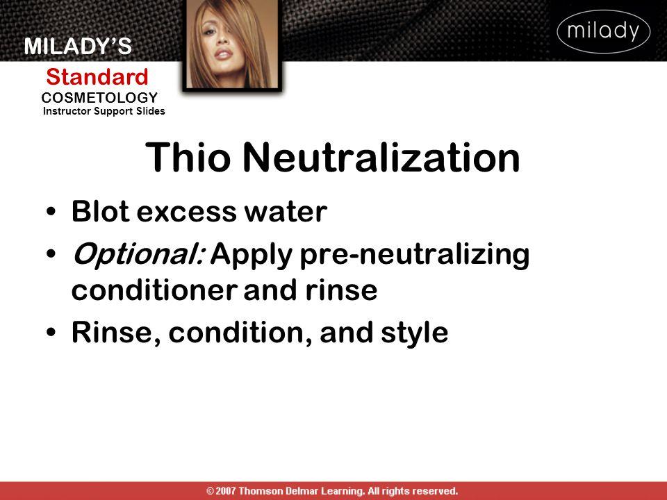 Thio Neutralization Blot excess water