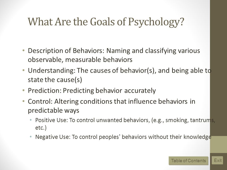 What Are the Goals of Psychology