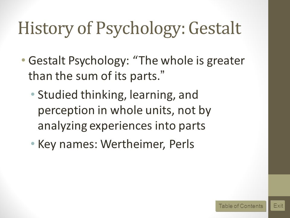 History of Psychology: Gestalt