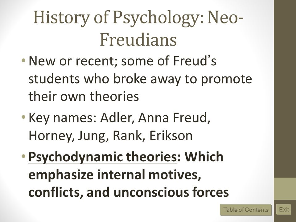 History of Psychology: Neo-Freudians