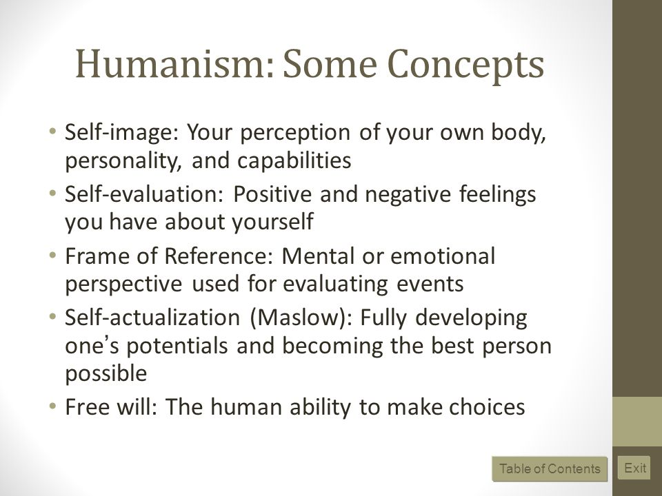 Humanism: Some Concepts