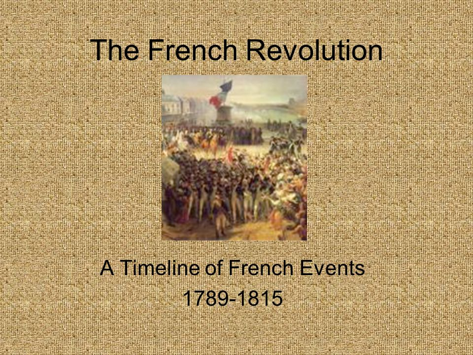 A Timeline of French Events 1789-1815
