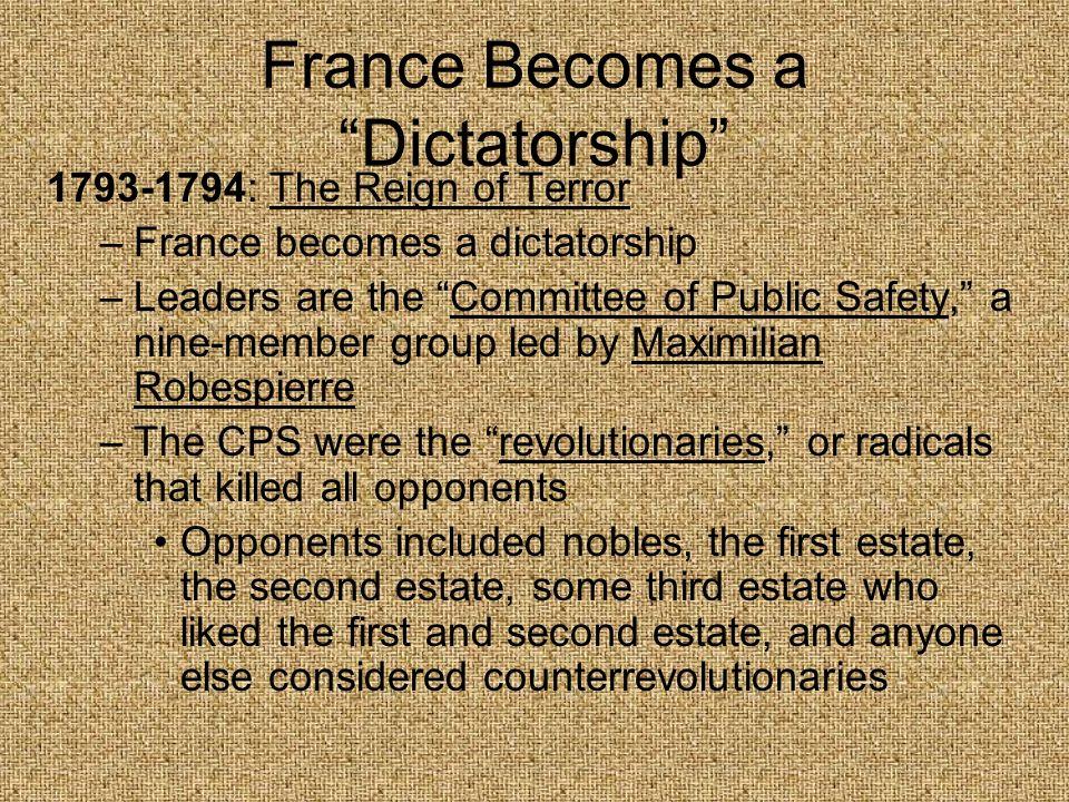 France Becomes a Dictatorship