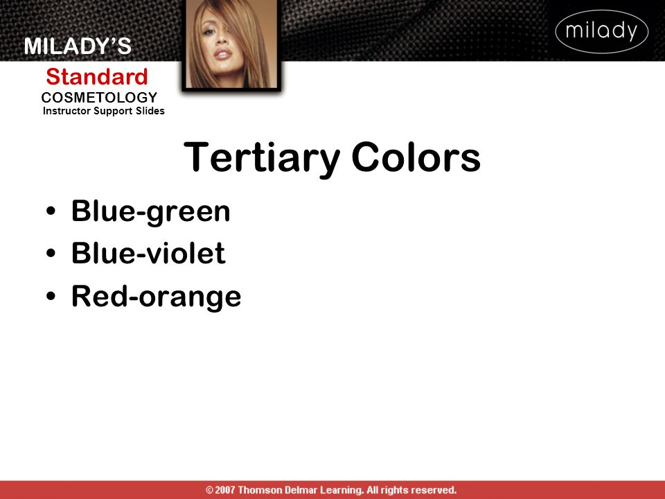 Tertiary Colors Blue-green Blue-violet Red-orange