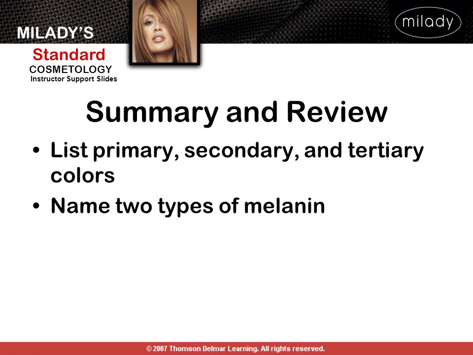 Summary and Review List primary, secondary, and tertiary colors