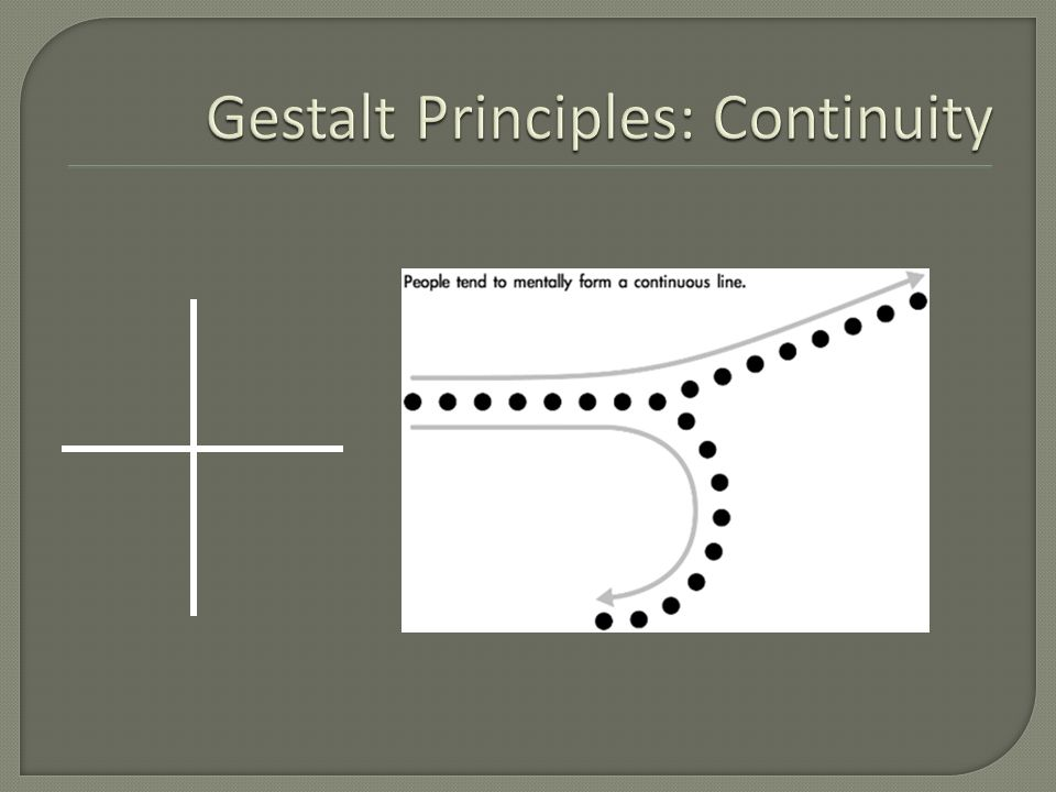 Gestalt Principles: Continuity