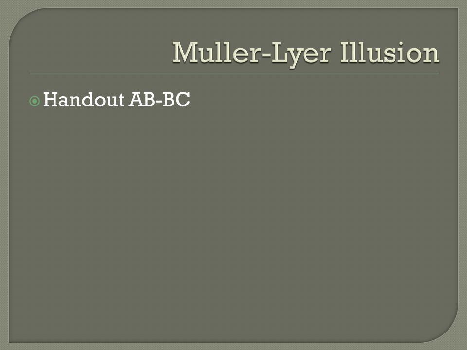 Muller-Lyer Illusion Handout AB-BC