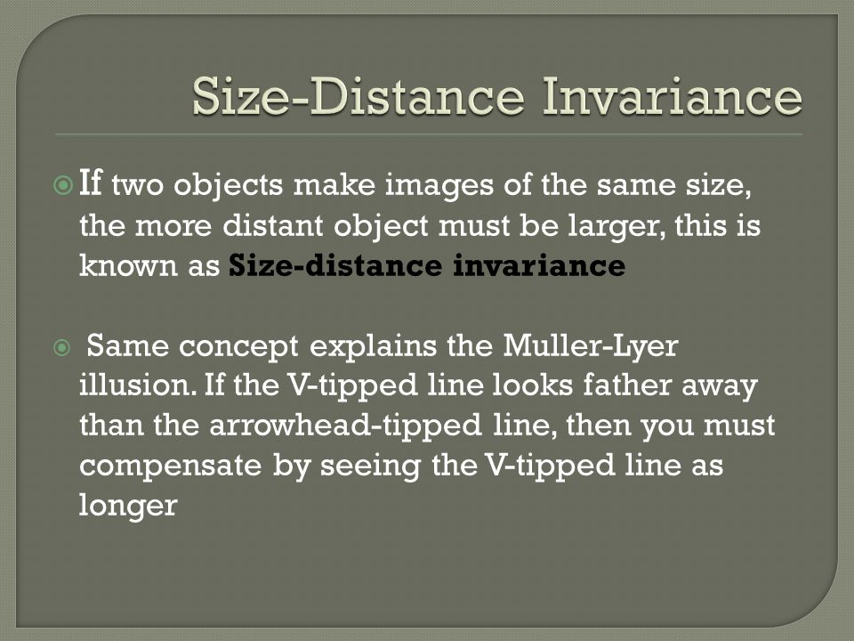 Size-Distance Invariance