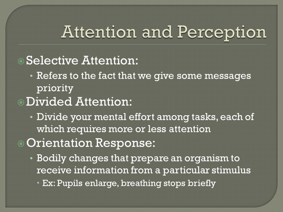 Attention and Perception