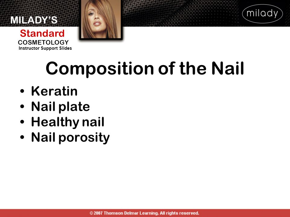 Composition of the Nail