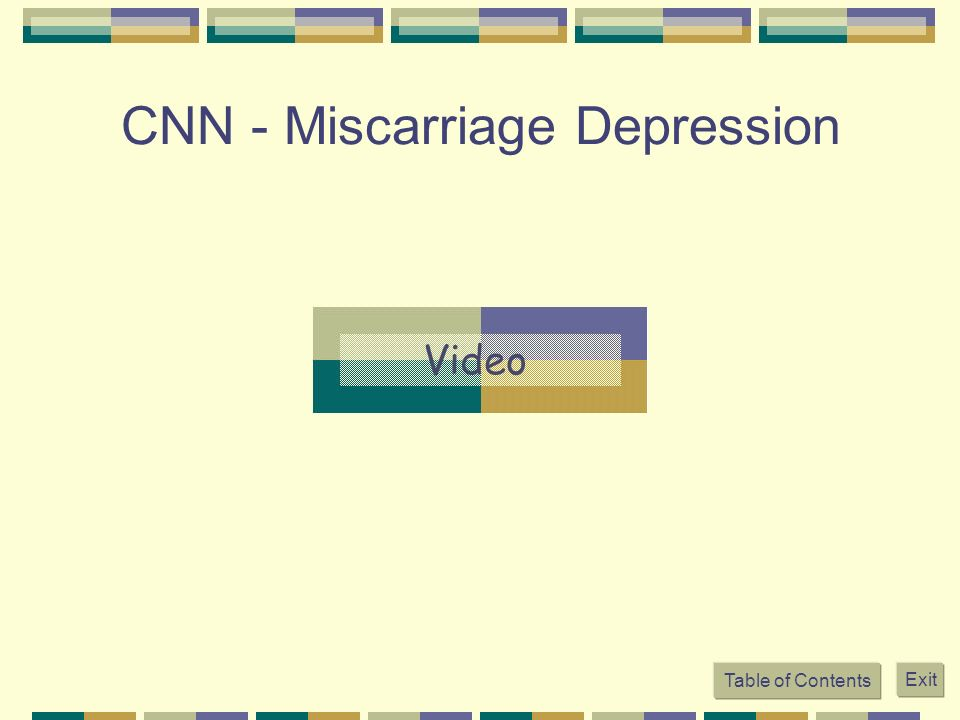 CNN - Miscarriage Depression