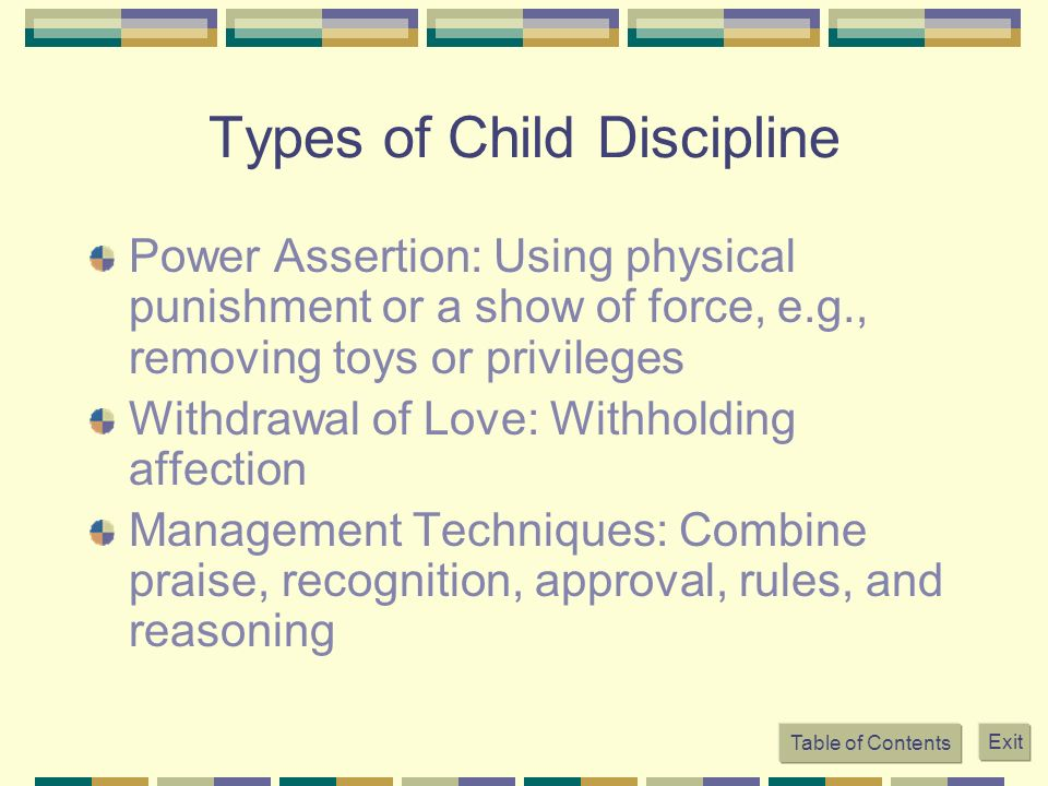 Types of Child Discipline