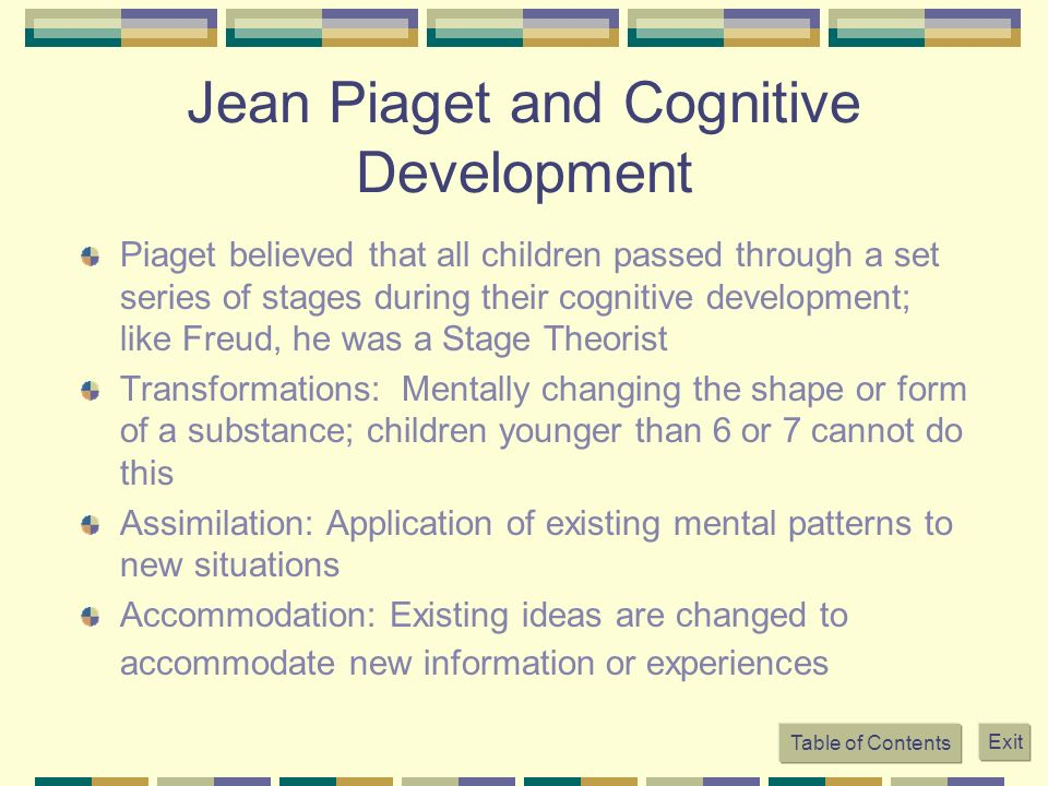Jean Piaget and Cognitive Development