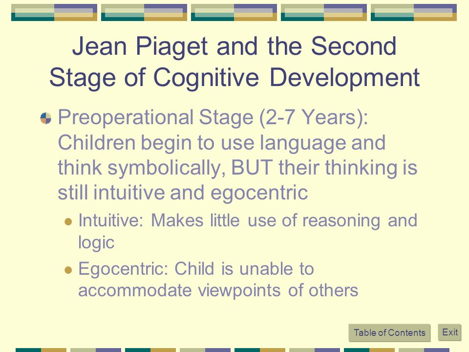Jean Piaget and the Second Stage of Cognitive Development