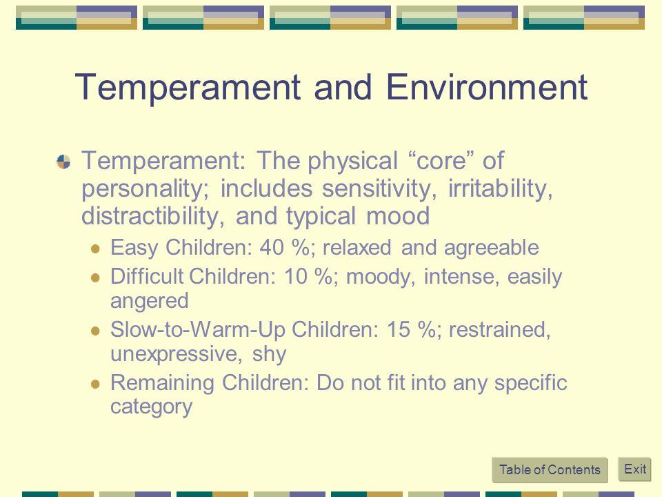 Temperament and Environment