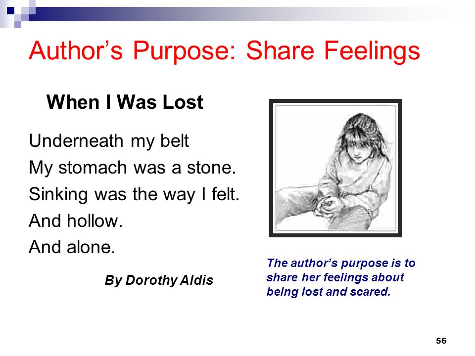 Author's Purpose: Share Feelings