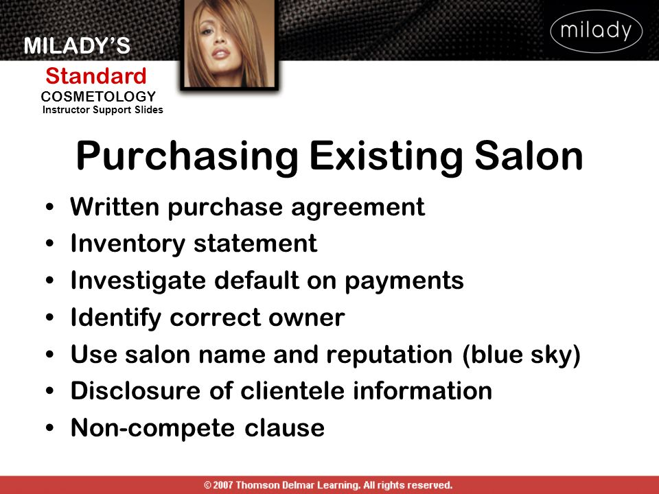Purchasing Existing Salon