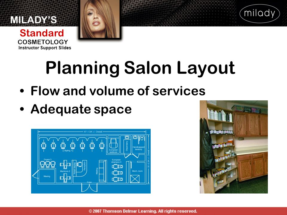 Planning Salon Layout Flow and volume of services Adequate space