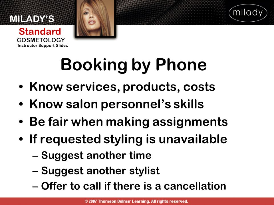 Booking by Phone Know services, products, costs