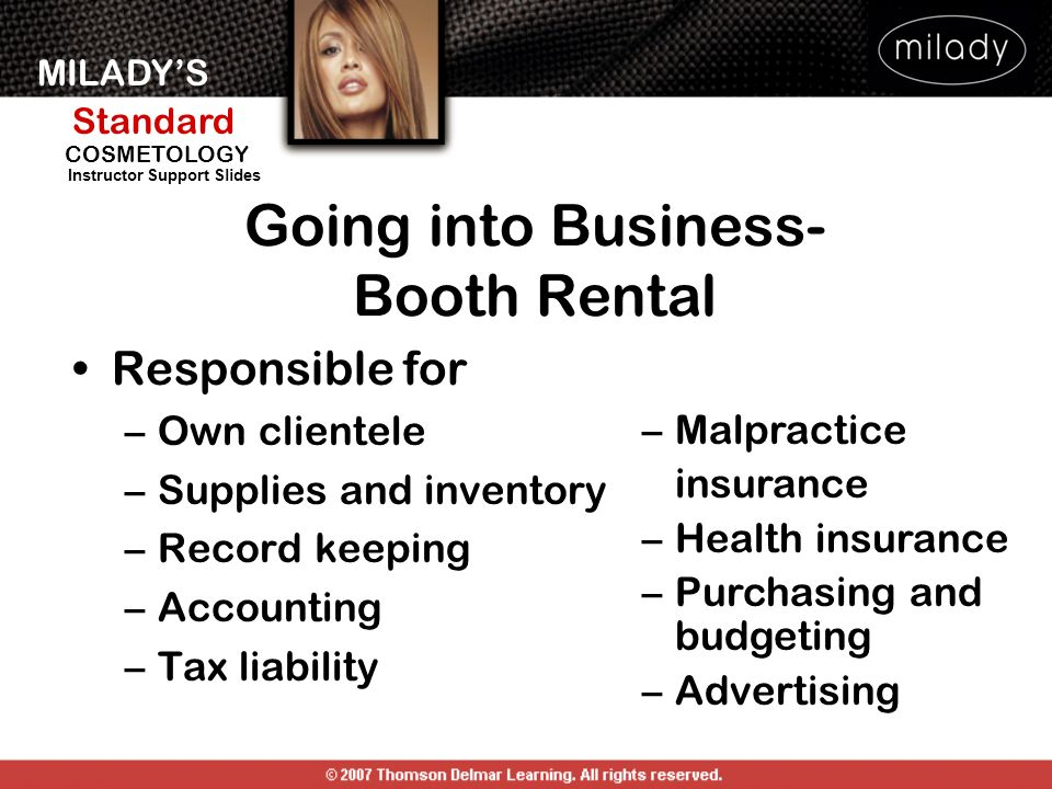 Going into Business- Booth Rental